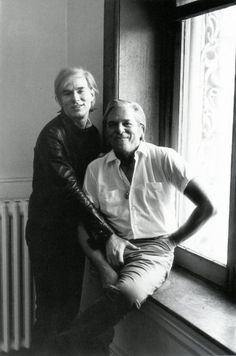Andy Warhol and Parker Tyler. Photo by Gerard Malanga