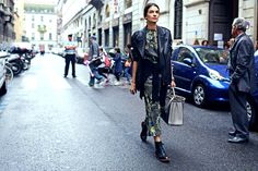 Shop the Street Style Look: Patterned and Pretty in Milan – Vogue