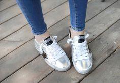Low Cut Metallic Sneakers