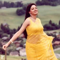 """""""Remembering The Iconic, Eternal Beauty who passed away on Feb 2018 Indian Bollywood Actress, Beautiful Bollywood Actress, Most Beautiful Indian Actress, Bollywood Fashion, Indian Actresses, Saree Models, Yellow Saree, Vintage Bollywood, Beauty Full Girl"""