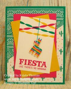Festive Birthday Pinata card by Krista Thomas, www.regalstamping.com