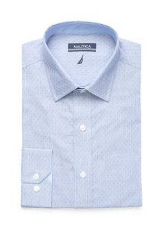 Nautica Blue Blue Ditsy Button Down Shirt