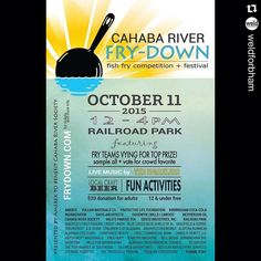 #Repost @weldforbham with @repostapp.  The Cahaba River Society presents the #CahabaRiverFrydown October 11th at Railroad Park.