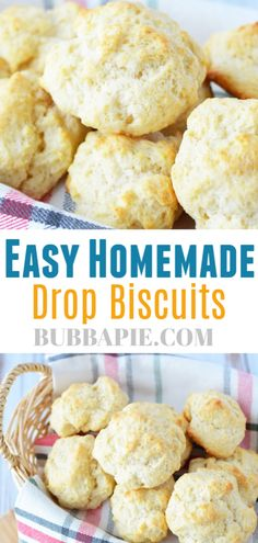 And Easy Drop Biscuits This quick and easy homemade drop biscuit recipe uses simple ingredients and are the perfect comfort food! This quick and easy homemade drop biscuit recipe uses simple ingredients and are the perfect comfort food! Homemade Drop Biscuits, Easy Drop Biscuits, Buscuit Recipe, Quick Biscuit Recipe, Easy Homemade Recipes, Yummy Recipes, Comfort Food, Cornbread, Accessories