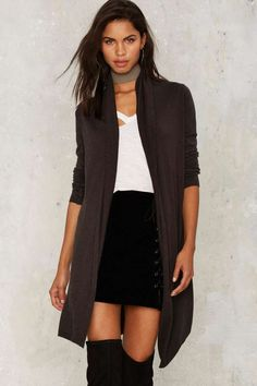 Nasty Gal One Touch Drape Sweater - Clothes | Cardigan | Tops