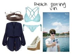 """""""jin beach"""" by ewaporter ❤ liked on Polyvore featuring Topshop, ViX and Zodaca"""
