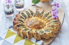 Une tarte salée jolie et ludique à picorer du bout des doigt à l'apéritif!