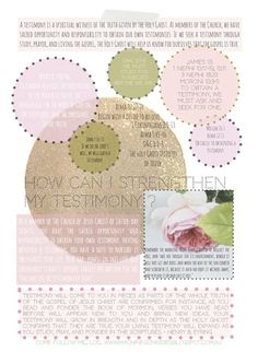 How Can I Strengthen My Testimony? - Come Follow Me - LDS - Young Women lesson handout. Machine Gun Kisses Blog.