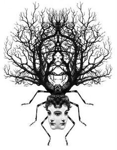 love all his stuff Weird Drawings, Art Drawings, Dan Hillier, Tarot, Photoshop Illustrator, Gothic Art, Collage Art, Collages, Mythical Creatures