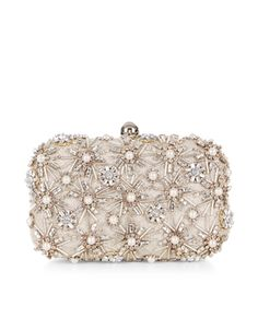 Perfect for special occasions, our Asha hard-case clutch bag is lavishly embellished with glossy pearl beads, sparkling crystal gems and delicate beads. Carry it in hand or wear it over your shoulder using the concealable chain strap. Bridal Clutch Bag, Wedding Clutch, Embellished Purses, Best Leather Wallet, Bridesmaid Clutches, Bridesmaids, Diane, Beaded Clutch, Bridal Accessories