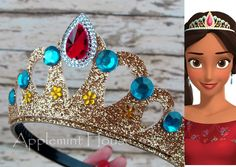Elena of Avalor Crown,Elena of Avalor Headband,Baby Elena Crown, Elena Crown,Disney Crown,Women Elena Crown by APPLEMINTHOUSE on Etsy https://www.etsy.com/listing/465007806/elena-of-avalor-crownelena-of-avalor