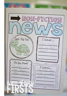 great for teaching non-fiction