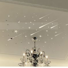 Funlife 3D Meteor Stars Universe Shooting Shiny Mirror Wall Sticker Reflective Wall Decals for Home Decoration Mirror MS361293-in Wall Stickers from Home & Garden on Aliexpress.com   Alibaba Group
