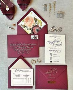 Cranberry invitation suite