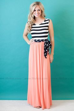 SHE'S GOT IT ALL MAXI DRESS IN CORAL  *RESTOCK*