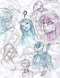 Quick warm up sketches by JoeyVazquez.deviantart.com on @DeviantArt