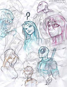 Quick warm up sketches by JoeyVazquez.deviantart.com on @DeviantArt
