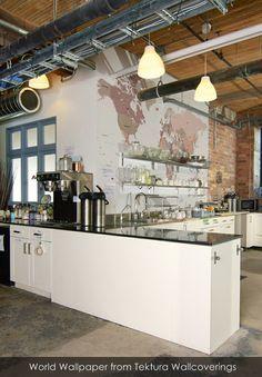 Centre for Social Innovation Annex - communal kitchen Warehouse Kitchen, Warehouse Home, Warehouse Shelving, Warehouse Office, Layout Design, Design Ideas, Office Kitchenette, Kitchenette Ideas, Communal Kitchen