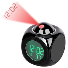 ZEEPIN LED Digital Projector Clock Modern Radio Alarm Snooze Timer Temperature