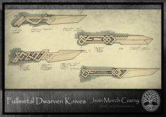 Fullmetal Dwarven Knives by JeanCzarny