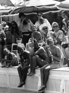 Caroline, Albert And Grace Of Monaco At Monte-Carlo'S Palm Beach Pool 1972