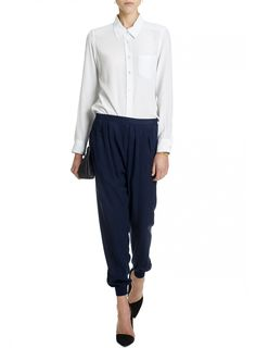 Tencel pants with elastic cuff by Jac & Jack.
