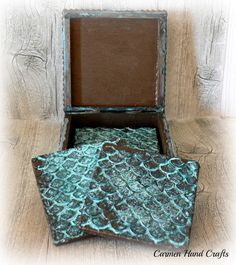 DIY Coasters with Bronze Patina | Project by Carmen Hand Crafts with Modern Masters Metal Effects
