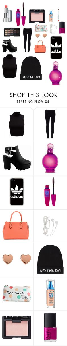 """Sleepover"" by puppylover2006 ❤ liked on Polyvore featuring Forever New, Britney Spears, adidas, Maybelline, Ted Baker, NARS Cosmetics, Local Heroes, Revlon and Obsessive Compulsive Cosmetics"