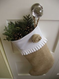Cozy.Cottage.Cute.: A Homemade Burlap Stocking