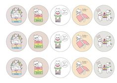 Edible cupcake toppers with cute hand drawn illustrations of cats that are going back to school for the new term. Perfect cake decoration for welcoming in the new school year.  All products are 100% edible and easy to use. Suitable for use as cocktail toppers and ice cream decs. Next day delivery available - buy now!