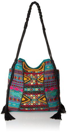 BIG BUDDHA Briella Hobo Bag, Teal Multi, One Size: Handbags: Amazon.com