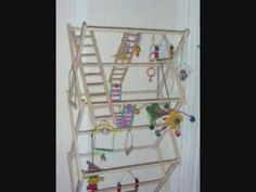 ▶ make a parrot playgym - YouTube
