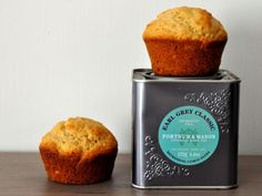 These muffins are infused with a mix of Earl Grey tea and lemon. Good basic recipe to experiment with different kinds of tea and flavor combos
