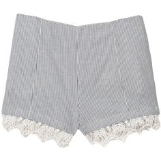 Rag & Bone High Clare Short (3,400 MXN) ❤ liked on Polyvore featuring shorts, bottoms, short, high waisted lace shorts, rag bone shorts, lace short shorts, high waisted shorts and high waisted short shorts