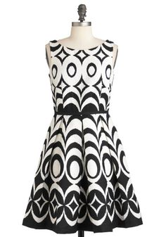 At Every Pattern Dress in Black Waves, #ModCloth