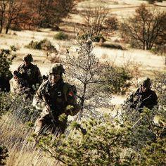 Centre d'entraînement au tir opérationnel #CEITO sur le plateau du #Larzac. Objectif pour les fantassins du 7e bataillon de chasseurs alpins #7BCA revoir l'ensemble des fondamentaux. C'est-à-dire les savoir-faire indispensables à chaque combattant. Au menu tir tactique combat motorisé et débarqué et menaces #IED (explosifs artisanaux). 7 BCA #armeedeterre #defense #defence #armée #armee #soldat #soldier #frencharmy #militaire #military #camouflage #camo #outdoor #combat #garrigue #nature #wild # French Army, Military Police, Modern Warfare, Dire, Bradley Mountain, Warriors, Camouflage, Centre, Instagram Posts