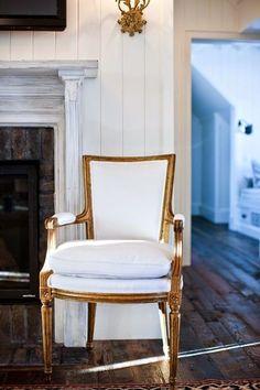 Louis  XVI chair - white on gold