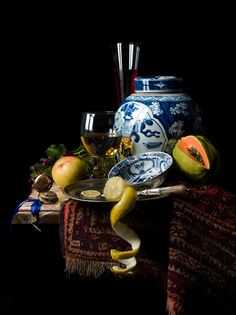 Still Life by Kevin Best, via Behance - a live interpretation of the Dutch still life