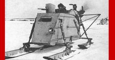 Awesome! Red Army War Sleds With Airplane Engines & Guns!