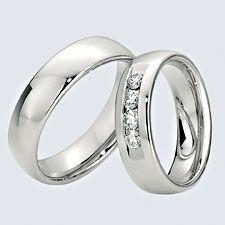 Verighete din aur alb cu briliante si interiorul rotunjit pentru confort la purtare. Pot fi realizate din aur alb, aur galben sau aur roz. La cerere sunt posibile şi alte modificări. Aur, Silver Rings, Wedding Rings, Engagement Rings, Jewelry, Enagement Rings, Jewlery, Jewerly, Schmuck