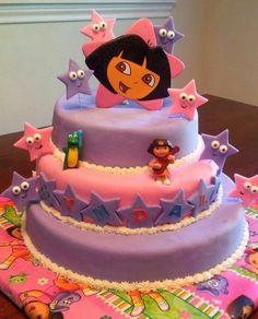 Dora Birthday Cake By jaciemattson on CakeCentral.com
