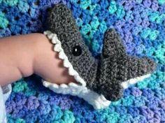 Shark booties! So cute! So cheesy!