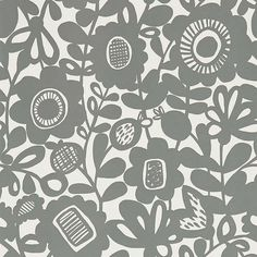 Shop for Wallpaper at Style Library: Kukkia by Scion. This bold floral wallpaper with a chalky finish is printed on a non-woven paper and available in . Print Wallpaper, New Wallpaper, Fabric Wallpaper, Wallpaper Roll, Sunshine Wallpaper, Painted Rug, Wallpaper Online, Scion