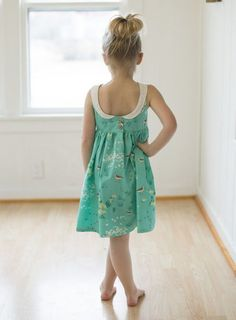 Molly's Scoop Collar & Pintuck Top, Dress & Maxi. PDF sewing patterns for girls sizes 2t-12. - Simple Life Company