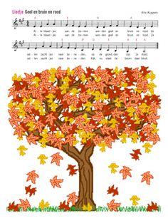#Herfst - Geel en bruin en rood