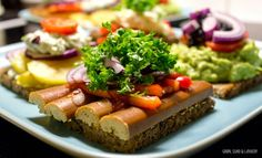 A great example of smørrebrød with sausage