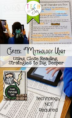 Looking for a way to teach close reading strategies in a fun, interesting way using Greek Myths that are appropriate for your students? Well this is the resource for you! Click here to find out more! $
