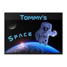 #name - #Space Astronaut Wall Art Name