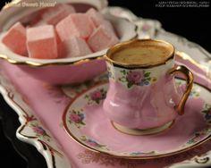 turkish coffee with turkish delight....pretty