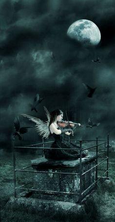 Dark Angel ༺ß༻ Dark Fantasy Art, Dark Gothic Art, Angel Wallpaper, Ange Demon, Sad Pictures, Angels And Demons, Fallen Angels, Dark Angels, Goth Art